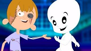 Непослушный Призрак Песня | Детского стишка | Хэллоуин песня | Страшно Видео | Naughty Ghost Song