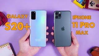 Set kèo Galaxy S20+ vs iPhone 11 Pro Max - S20+ có