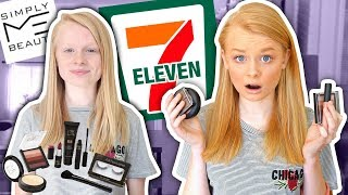 I TRIED A FULL-FACE OF 7-ELEVEN MAKEUP! 😱 *awful result*