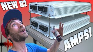 DOUBLE STACK Amplifier Install w/ 10,000 Watts of B2 Audio FALCON Bass Amps + LOUD Subwoofer Demo!!!