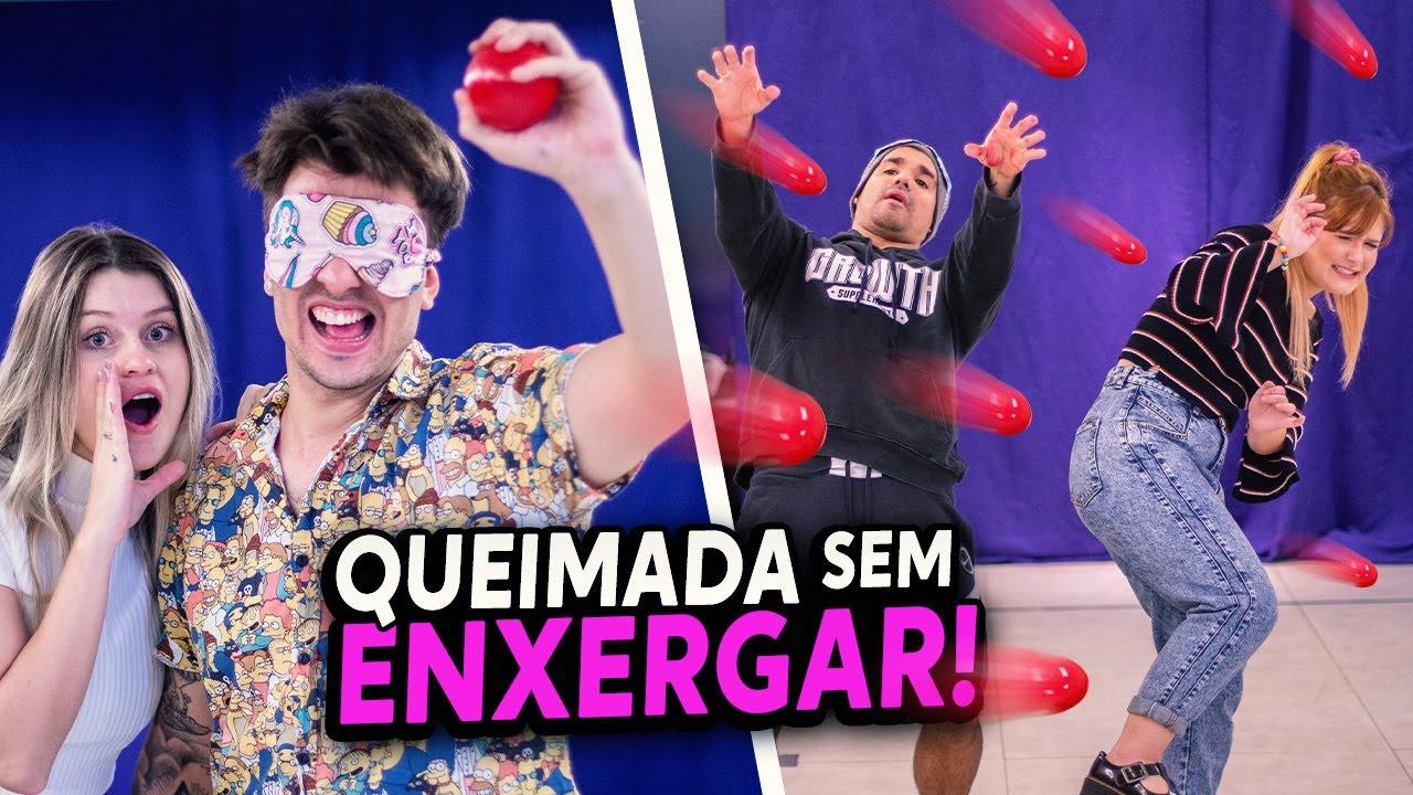 QUEIMADA VENDADO NA SALA DA MANSÃO!