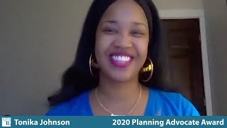 2020 APA-IL Planning Advocate Award - Tonika Johnson
