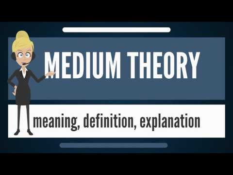 What Is MEDIUM THEORY? What Does MEDIUM THEORY Mean? MEDIUM THEORY Meaning & Explanation