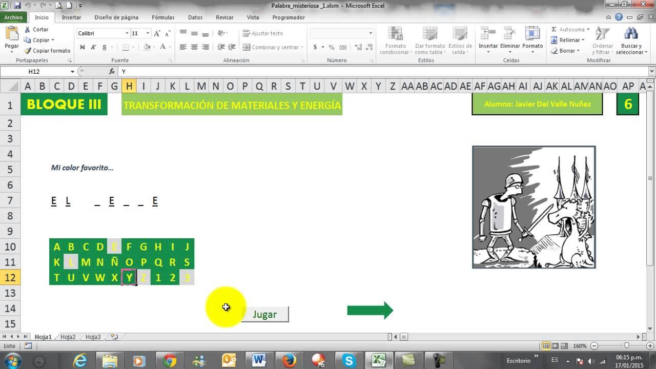 Juego De Ahorcado En Excel Youtube