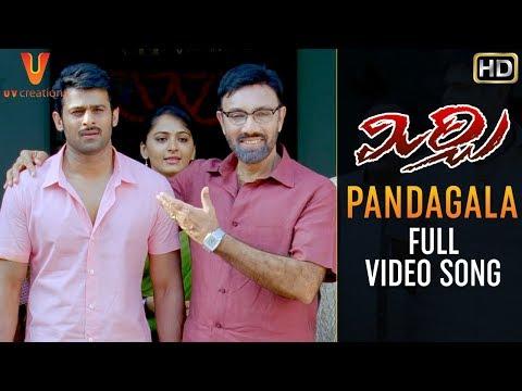 Pandagala Full Video Song   Mirchi Telugu Movie Songs   Prabhas   Anushka   Sathyaraj   Richa   DSP