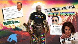 When Virtue Signaling Goes WRONG! on Progressive Twitter Kratos GayBait