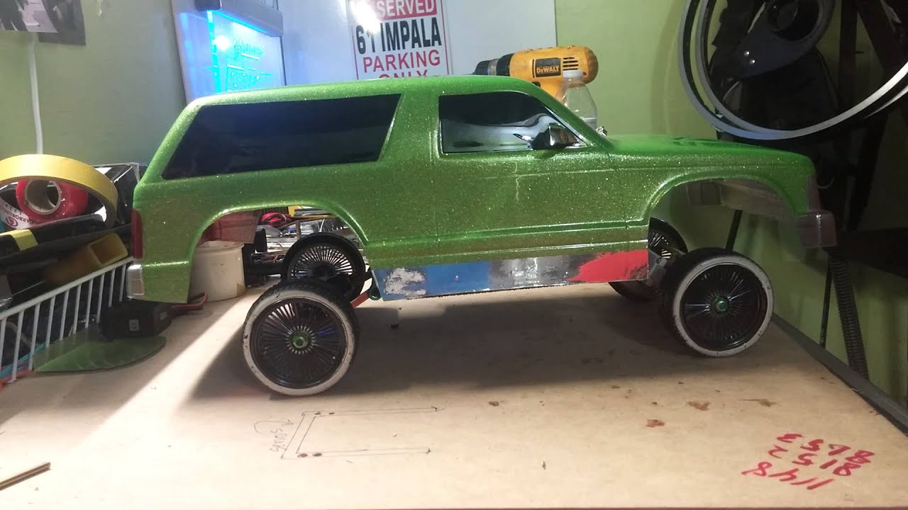 my rc car with hydraulics   blazer