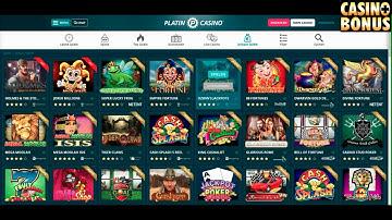 Casino Test  Platin Casino Bonus - Freispiele holen!