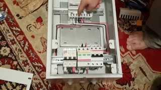 Как скоммутировать вводной электрощит.(Это второе видео из серии о том как я подключал электроэнергию на земельный участок. Однолинейная электрич..., 2014-06-05T14:02:05.000Z)