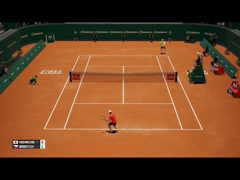 Kei Nishikori vs Tomas Berdych - AO Tennis PS4 Gameplay