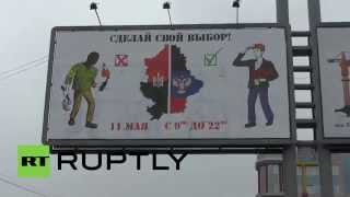 Ukraine: Right Sector or autonomy? Donetsk referendum ads ask