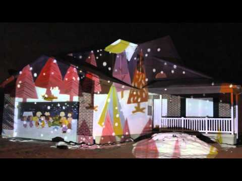 2015 Christmas House Projection Live