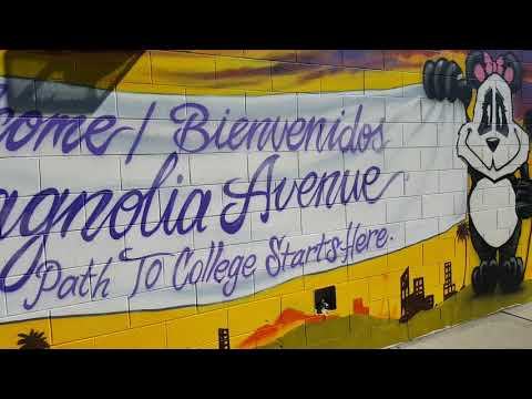 Another mural for Magnolia Avenue Elementary School