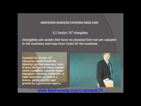 CPE for CPAs and EAs 2013 Business Expenses Section 197 Intangibles