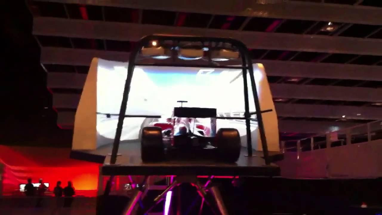 F1 Simulator At Ferrari World Youtube