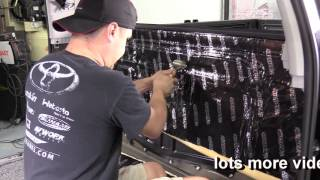 How to apply matting to your Toyota Tundra - Part 1 Rear Wall