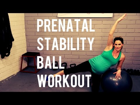 20 Minute Prenatal Stability Ball Workout---Pregnancy Workout for All Trimesters