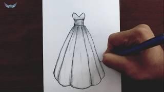 Karakalem Elbise Nasıl Çizilir  elbise çizimleri