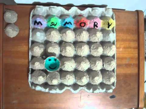 Memory cajas de huevo youtube - Como hacer un cono ...