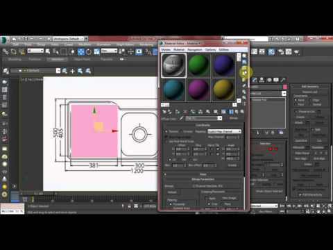 3ds max 3d studio max how to 3d model a kitchen sink for 3d max lessons for beginners