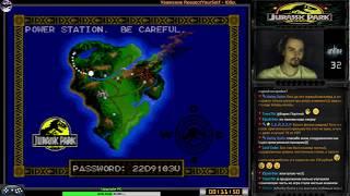 Jurassic Park прохождение [ hard ] | Игра на (SEGA Genesis, Mega Drive) BlueSky Soft 1993 Стрим RUS