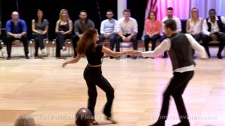 Sean McKeever & Jessica Cox 2015 Capital Swing Champion Strictly Winners