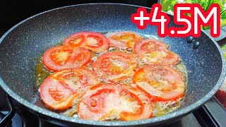 Tomato & Egg Recipe / Recette d'une Fainéante !! 🤭🤣