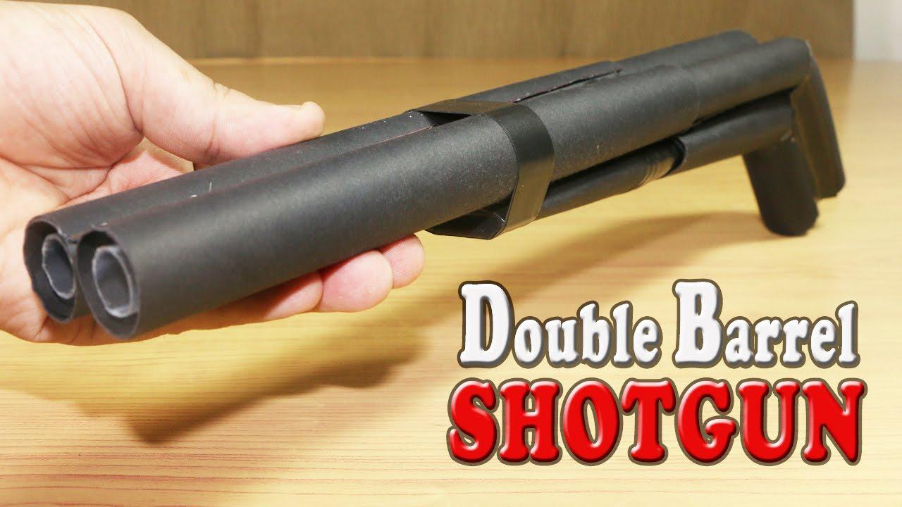 How To Make A Paper Double Barrel Shotgun That Shoots Double Bullets