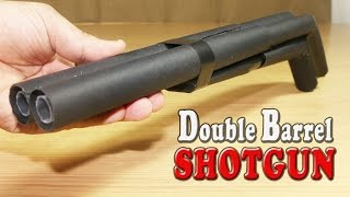 How To Make A Paper Double Barrel Shotgun That Shoots Double Bullets