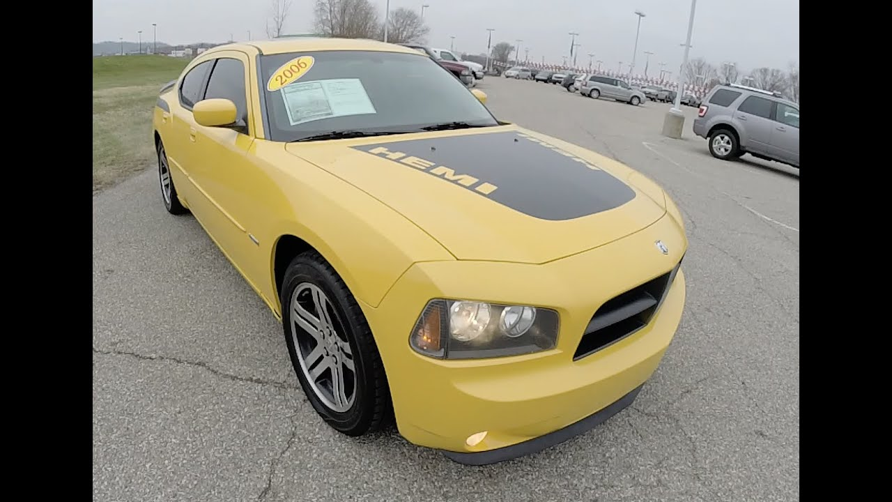2006 dodge charger rt daytona edition yellow hemi p9987b youtube. Black Bedroom Furniture Sets. Home Design Ideas