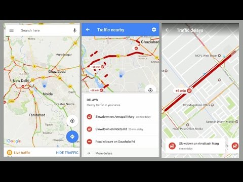 Google Maps New Feature Live Traffic Youtube
