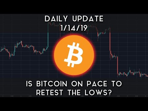 Daily Update (1/14/19) | Is bitcoin on pace to retest the lows?