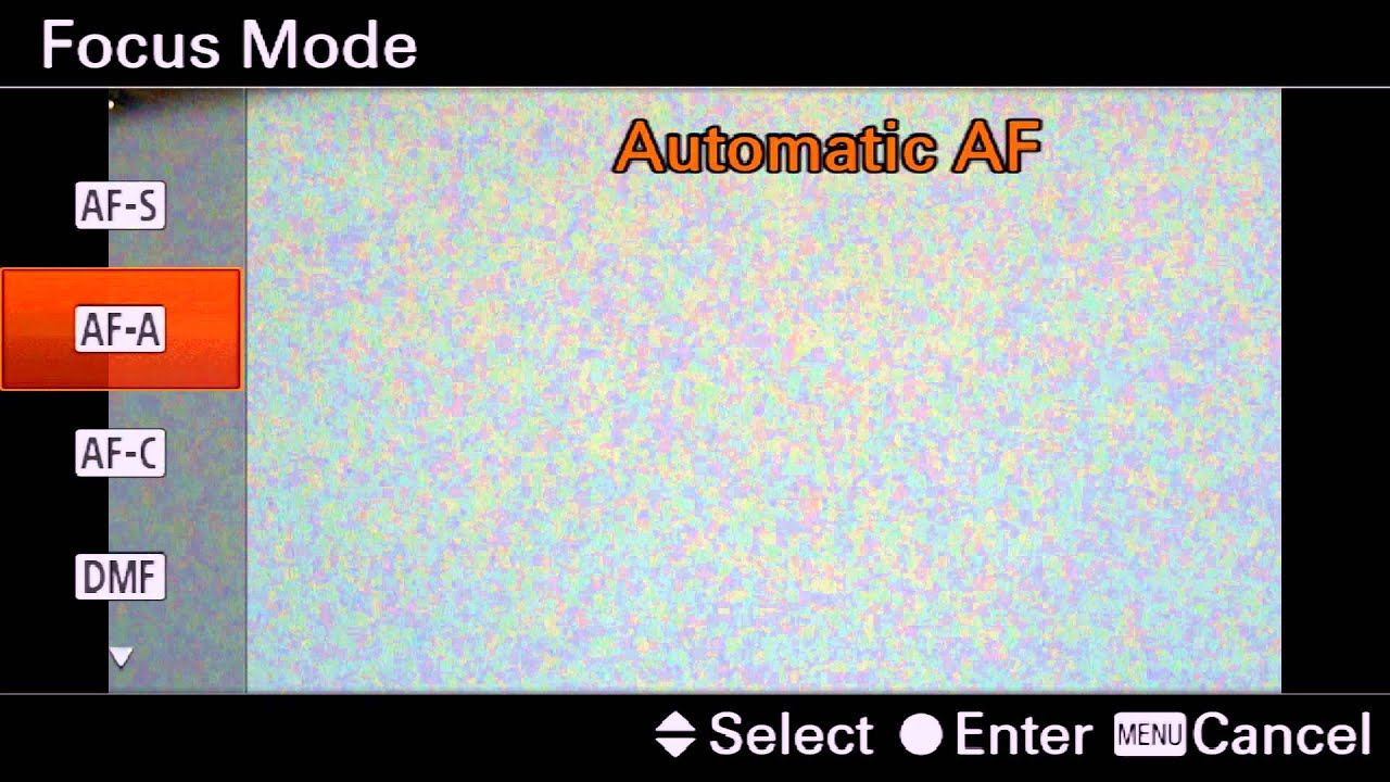 Manual Focus Assist with Sony Cameras - Camera Quick Start