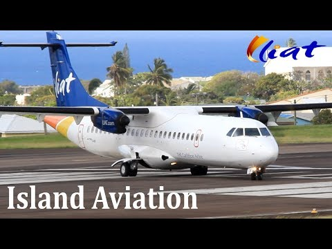 ATR 72-600 Action !!!! Liat departing St. Kitts Airport