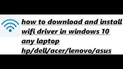 how to download wifi driver for windows 10