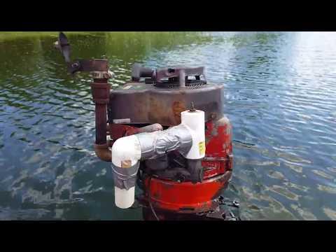19-something Briggs & Scrapiron Franken-Johnny 3hp Outboard Motor
