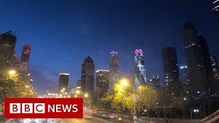 Streets of Beijing back to life after Covid - BBC News