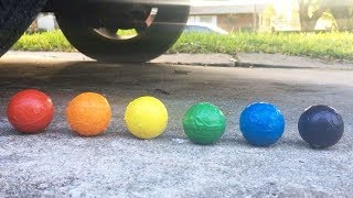 THE MOST SATISFYING CAR TIRE CRUSH | CRUSHING FLORAL FOAM SATISFYING ASMR VIDEO