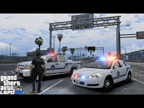 GTA 5 LSPDFR Police Mod 226 | Los Santos Port Authority Police | Airport, Bridge & Sea Port Patrol