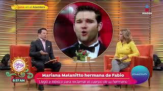 Hermana de Fabio Melanitto llega para reclamar el cuerpo del cantante | Sale el Sol