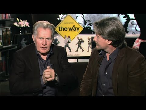 """Martin Sheen and Emilio Estevez Talk About Their New Movie, """"The Way"""""""