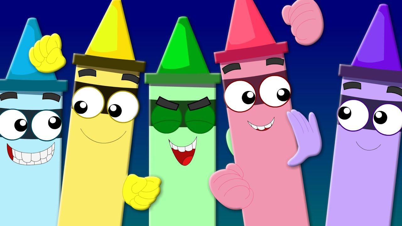 Crayons Colors Song | Learn Colors | Nursery Rhymes | Kids Songs ...