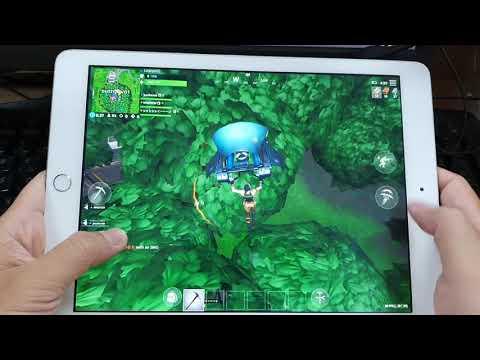 Test Game Fortnite On Apple IPad 2017