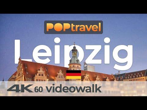 Walking in LEIPZIG / Germany - Central Station to Inner City -  4K 60fps (UHD)