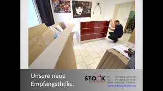 Stock Aufbau Theke Velbert Büromöbel Montage Empfangstheken Deutschland Österreich Schweiz