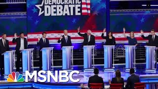 Dems Face Challenge Of Responding To Donald Trump's Attacks At Debate | Velshi & Ruhle | MSNBC