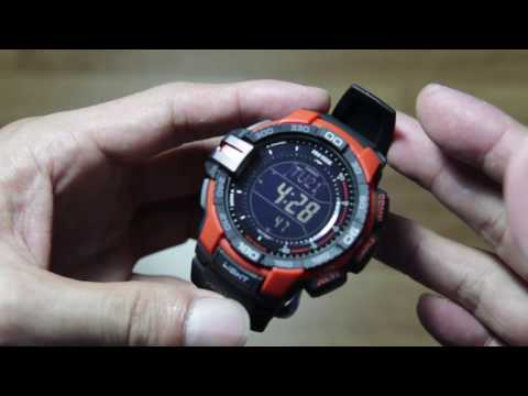 Casio Protrek PRG-270-4 ( Triple Sensor Demo )