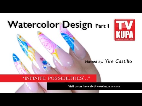 How-to Mixed Media  Spring Water Colors Design - Part 1