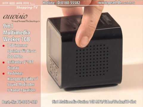 auvisio 9in1 Multimedia-Station 1GB MP3/Video/Wecker/SD-Slot