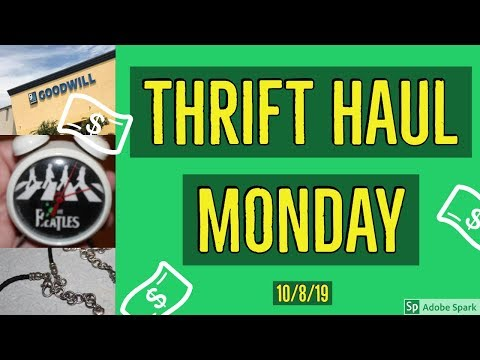 GOODWILL THRIFT HAUL | Thrift Haul Monday | 10/8/19 Edition | Trash Into Cash | Goodwill Outlet Bins